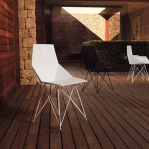 Vondom Chaise avec accoudoirs FAZ  - Structure en acier - blanc