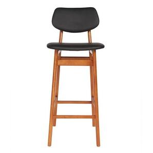 Chaise de bar vintage noyer et noir 75 cm NORDECO - MILIBOO