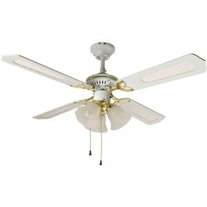 Ventilateur de plafond CALICE 3 lampes, blanc