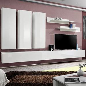 Meuble TV design mural blanc BUDONI