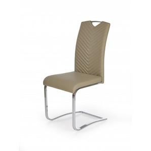 Chaise design confort marron pieds luge Vlada