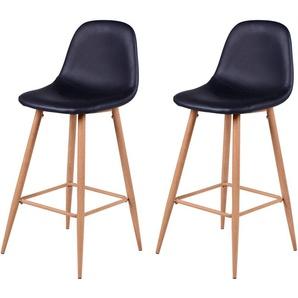Chaise de bar Rodrik noire 73 cm (lot de 2) - RENDEZ VOUS DéCO