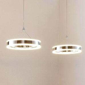 Suspension LED Lyani, 2 anneaux alignés