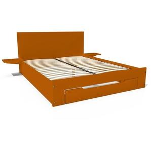 Lit Happy + tiroirs + chevets amovibles - 2 places 140x190 Chocolat