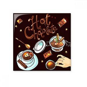 DIYthinker Chocolat Chaud Desserts Boisson France Céramique Bisque Carrelage Salle de Bains Décor de Cuisine Carreaux de céramique Carreaux S