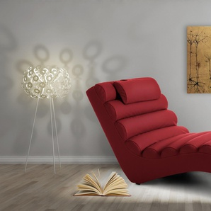 JUSTyou RELIKS Fauteuil relax 75x168x80 cm Rouge
