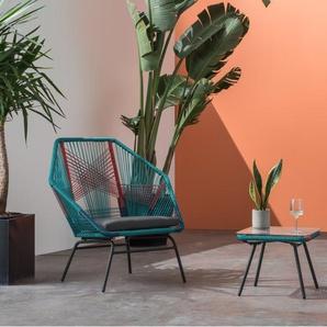 Copa, ensemble table d'appoint et chaises pour l'apéritif, multicolore