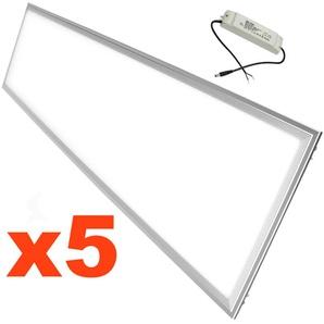 Panneau LED 120x30 Slim 48W (Pack de 5) - Blanc Froid 6000K - 8000K - SILAMP