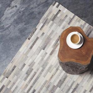 Tapis en cuir motif parquet 160 x 230 cm AHILLI