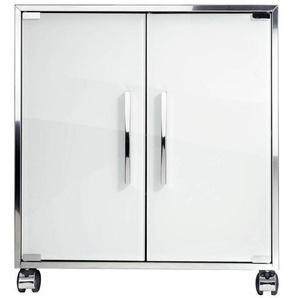 Decor Walther WTU 1 - Sous-lavabo - chrome/blanc/PxHxP 60x66x34,5cm/2 roulettes avec frein
