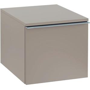 Villeroy & Boch Rallonge darmoire Venticello A95301, 404x359x477mm, pour raccordement au meuble sous-lavabo, Coloris: Laqué noir mat, poignée : chrome brillant - A95301PD