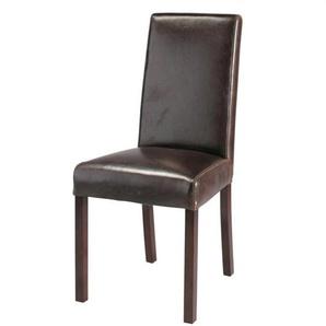 Chaise en cuir marron Harvard