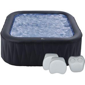 Pack spa gonflable carré 185cm TEKAPO - 6 places + 2 appuie-tête + 1 porte-gobelets - MSPA