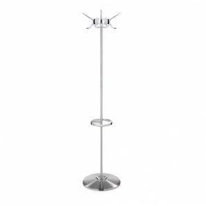 Kartell Porte-manteaux Hanger - cristal/H 170cm/base Ø45cm/6 crochets polycarbonate transparent/structure acier revêtu brossé