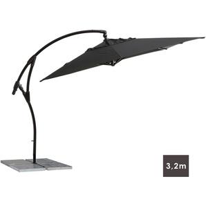 Parasol déporté carré 3,2m - coloris noir - M&S