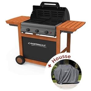 Pack Barbecue à gaz Campingaz Adelaïde 3 Woody L + housse
