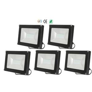 5×Anten 30W Projecteur LED Spot LED Étanche IP65 Léger Lampe Solide pour Extérieur et Intérieur Blanc Neutre 4000K Coque Noir