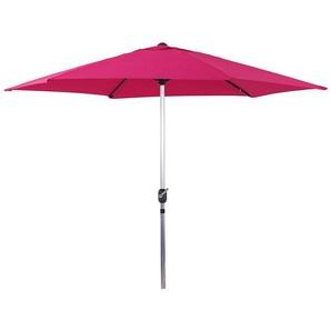 Parasol jardin droit Alu Sol - Rond - Ø 3m - Rose - HABITAT ET JARDIN