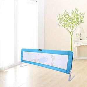 Barrière de lit Pliable pour Enfant, 1,5 m, barrière de sécurité, Protection Amovible, barrière de sécurité, Portable, Protection Universelle, 150 x 65 cm, Bleu