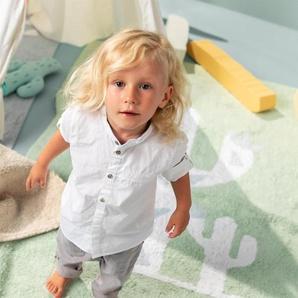 Lytte Tapis lavables pour enfants Inka Cactus Vert clair 150x225 cm - Tapis pour chambre denfants/bébé