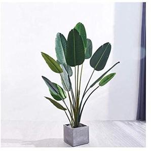 Faux plantes décoration florale Simulation, Salon Intérieur étage Fleur Grande plantation de pot en plastique décoratifs ORNEMENT 144 (Size : B)