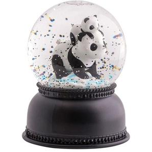 PANDA-Boule lumineuse Panda peinte à la main H14.5cm noir et blanc A Little Lovely Company