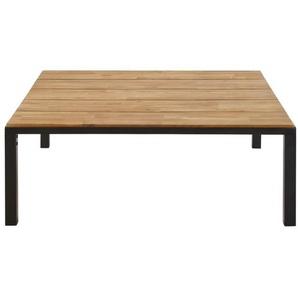 Table basse de jardin en acacia massif et métal noir Oural