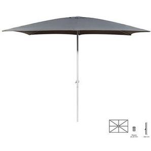 Parasol 300x400 cm gris avec pied en aluminium - M&S