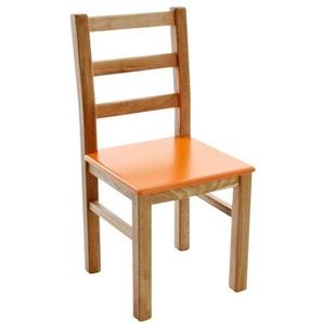 Kinderbunt Marie - Chaise d'Enfant bicolore - bois/orange