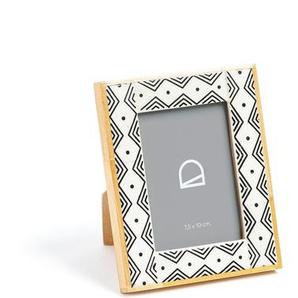 Kave Home - Cadre photo Dorion 11x14 cm bois et résine blanc et noir