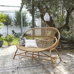 Canapé de jardin en tiges de rotin Léontie