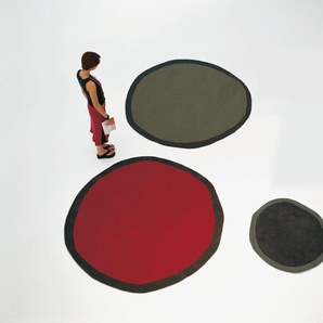 Nanimarquina Tapis Aros round - noir - L Ø 100 cm