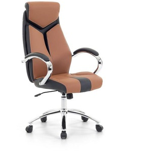 Chaise de bureau - fauteuil design marron FORMULA 1