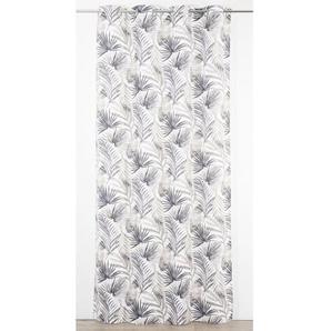 Rideau imprimé Tropical 135x260 cm gris