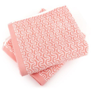 Lot de 2 serviettes de toilette 50x100 cm GRAPHIC HOOK orange