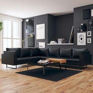 Canapé dangle Cuir artificiel Noir