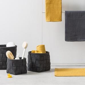 Essentials – Bask, lot de trois paniers tissés en feutre, charbon