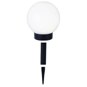 GLOBE LIGHT-Boule lumineuse dextérieur Solaire LED à piquer ou poser Ø15cm Blanc Best Season