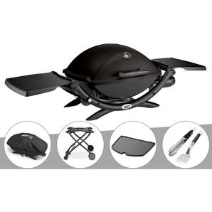 Barbecue à gaz Weber Q 2200 + Housse + Chariot + Plancha + Kit Ustensile