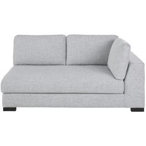 Accoudoir droit de canapé convertible 2 places gris clair chiné Terence
