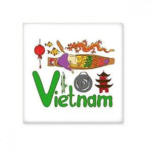 DIYthinker Vietnam Symbole National Haut-Lieu Touristique Motif Brillant Carrelage Céramique Salle de Bain Cuisine Décoration Murale Pierre Artisanat Cadeaux S