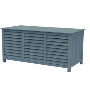 Coffre de jardin en bois Macao - 130 x 64 x 60 cm - Bleu ciel - HABITAT ET JARDIN
