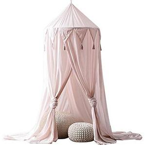 Edith qi Lit Canopée Mousseline Moustiquaire Enfants Princesse Jouer Tentes Salle Décoration pour Bébé Intérieur Intérieur Tente Décorative
