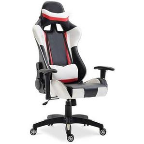 Chaise de bureau Racing Gaming Blanc - PRIVATEFLOOR