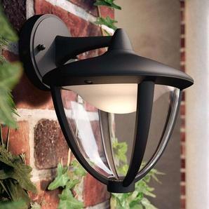 Philips Robin applique LED noire, vers le bas