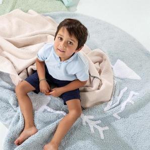 Lytte Tapis lavables pour enfants Inka Be Brave Vert clair ø 150 cm rond - Tapis pour chambre denfants/bébé