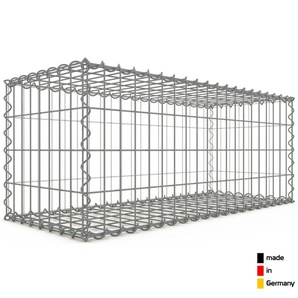 Gabion 100x40x40cm « made in Germany » - mailles rectangulaires 5x10cm - GABIONDECO