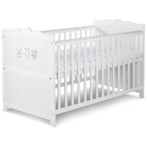 Lit bébé évolutif Hibou blanc