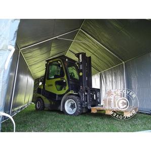 Tente de Stockage Tente Abri PRO 4x6x2x3,1m, PVC, Gris - DANCOVER