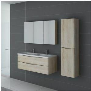 Meuble de salle de bain double vasque TREVISE 1200 Scandinave - DISTRIBAIN